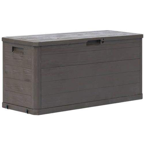 YOUTHUP Garten-Aufbewahrungsbox 280 L Braun