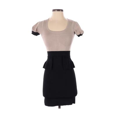Karen Millen Casual Dress - Party: Black Solid Dresses - Used - Size X-Small