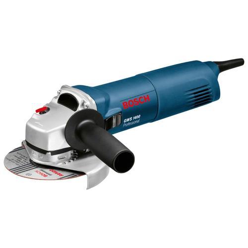 Bosch Professional Winkelschleifer GWS 1400 Professional, Einhandwinkelschleifer blau Schleifer Werkzeug Maschinen