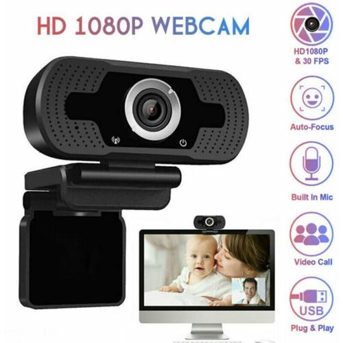 Full HD Webcam 1080P Computer PC / Laptop Kamera mit Mikrofon Videokonferenz