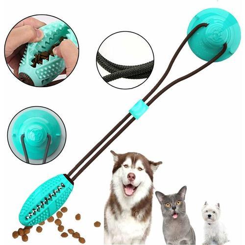 Hundespielzeug mit Saugnapf,Kauseilballspielzeug für Hunde Multifunktions Pet Molar Biss Spielzeug