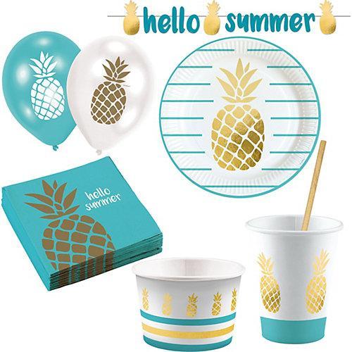 Partyset Ananas Pineapple, 63-tlg.