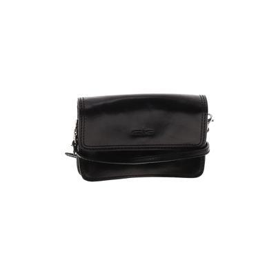 Gianni Conti - Gianni Conti Leather Crossbody Bag: Black Solid Bags