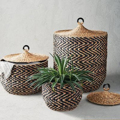 Zelda Lidded Baskets - Black (Ne...