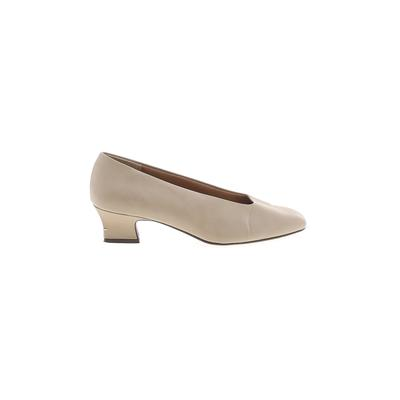 High Lights Heels: Ivory Solid Shoes - Size 8