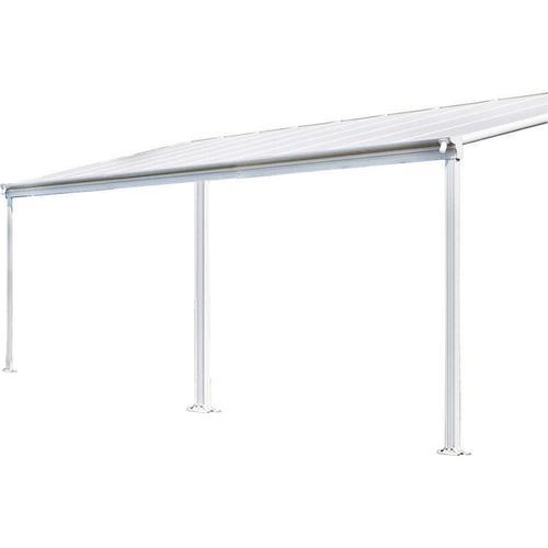 Terrassenüberdachung - 434 x 303 x 226 / 278 cm, weiß I Terrassendach, Überdachung, Carport - Home