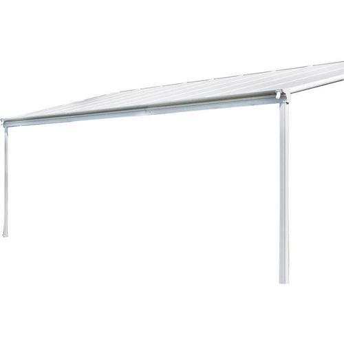 Terrassenüberdachung - 312 x 303 x 226 / 278 cm, weiß | Terrassendach, Überdachung, Carport - Home