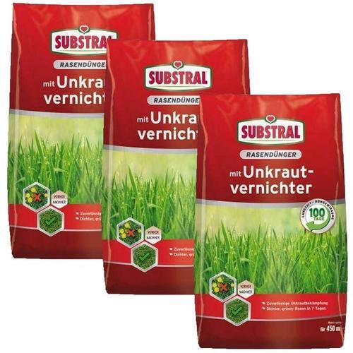 Celaflor-substral - 3c Substral Rasen-Dünger mit Unkrautvernichter 9 kg