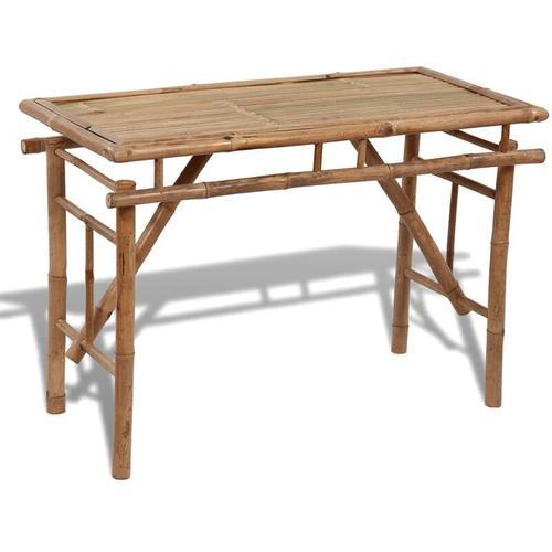 Gartentisch Klappbar 120×50×77 cm Bambus