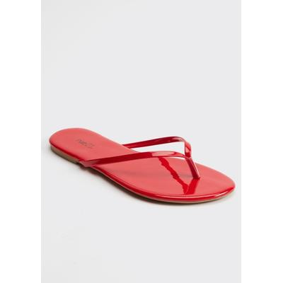 Rue21 Womens Red Flip Flops - Size 9