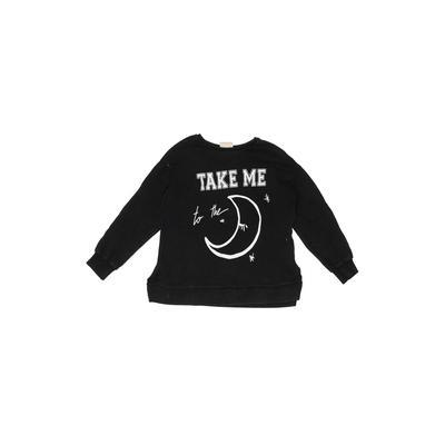 Zara Sweatshirt: Black Solid Top...