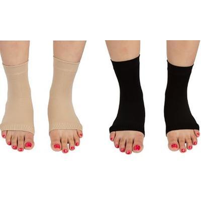 Paire de chaussettes unisexes Pro 11 Wellbeing pour la fasciite plantaire : Taille L / Chair / x 2