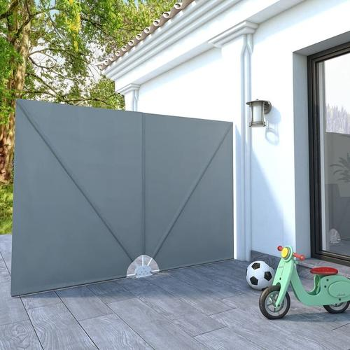 YOUTHUP Faltbarer Terrassen-Seitenfächer Grau 240 × 160 cm