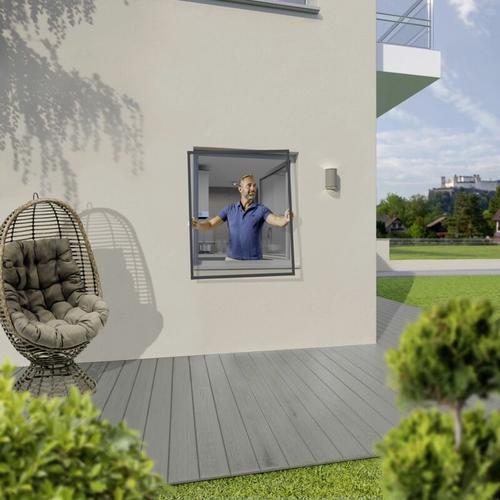Insektenschutz-Fenster 120 x 150 cm anthrazit - Trendline