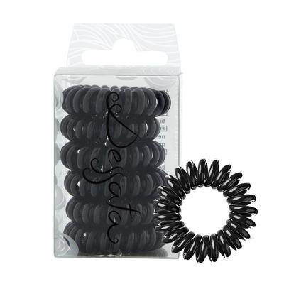 Dessata Elastique cheveux Lot de 6 élastiques spirales coloris noir
