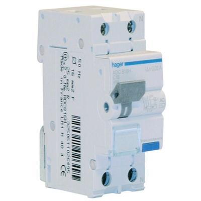 Fehlerstrom-Schutzschalter Hager 1P+N 30MA 16A ADC816H