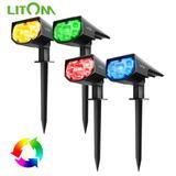 LITOM – lot de 2/4 lampes solair...