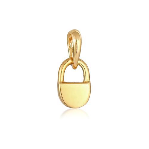 Anhänger Schloss Liebe Love 925Er Silber Elli Gold