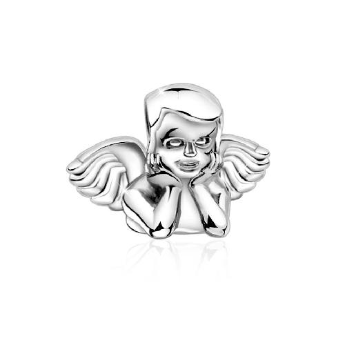 Charm Engelskopf Bead 925 Sterling Silber Nenalina Silber