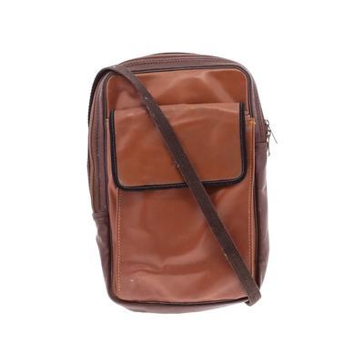 Assorted Brands - Assorted Brands Crossbody Bag: Brown Color Block Bags