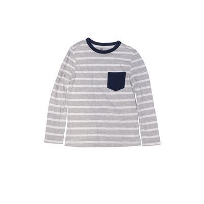 H&M Long Sleeve T-Shirt: Gray Pr...