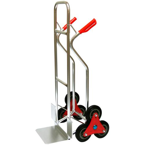 SZ METALL Treppensackkarre, 200 kg silberfarben Treppensackkarre Sackkarren Transport Werkzeug Maschinen