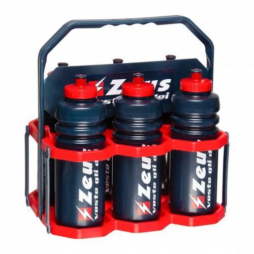 Zeus Flaschenträger mit Trinkflaschen 6er-Set 0,75l
