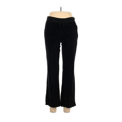 Pink Lady Velour Pants - Low Rise: Black Activewear - Size Large