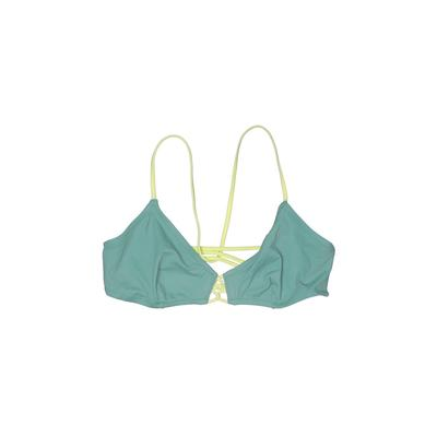 Vitamin A Swimsuit Top Green Solid Swimwear - Used - Size Large