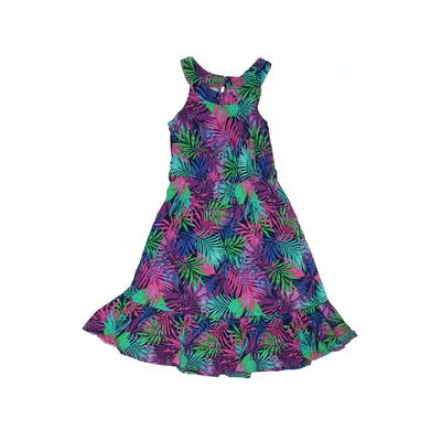 Juicy Couture Dress - A-Line: Purple Tropical Skirts & Dresses - Used - Size 7