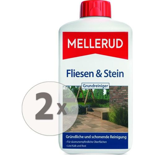 2 x 1 Liter Fliesen und Stein Grundreiniger - Mellerud
