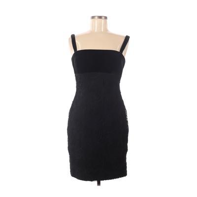 Alex Evenings Cocktail Dress - Sheath: Black Color Block Dresses - Used - Size 6 Petite