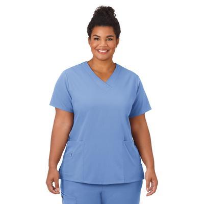 Plus Size Women's Jockey Scrubs Women's Favorite V-Neck Top by Jockey Encompass Scrubs in Blue (Size 3X(24W-26W))
