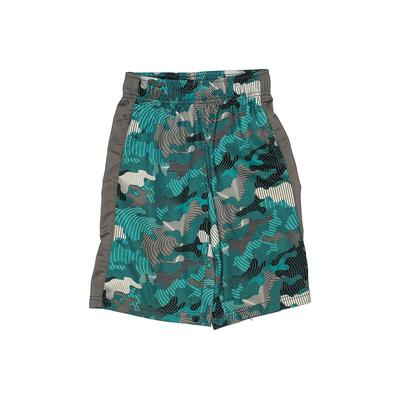 Gymgo Athletic Shorts: Teal Print Sporting & Activewear - Size 7