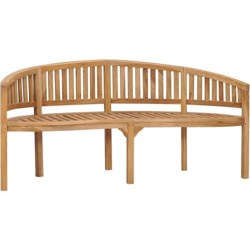 Sitzbank in Bananen-Form 180 cm Massivholz Teak