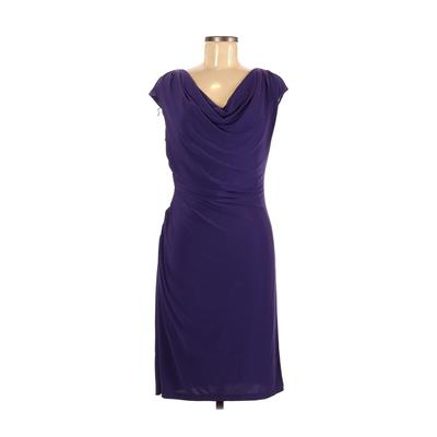 DressBarn Casual Dress - Sheath: Purple Solid Dresses - Used - Size 8