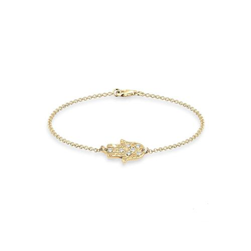 Armband Hamsa Hand Kristalle 925 Silber Elli Gold