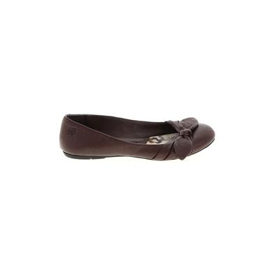 Born Handcrafted Footwear - Born Handcrafted Footwear Flats: Brown Solid Shoes - Size 6