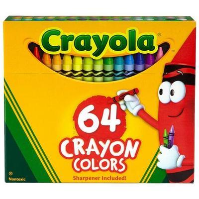 Crayola 64 Count Nontoxic Crayons