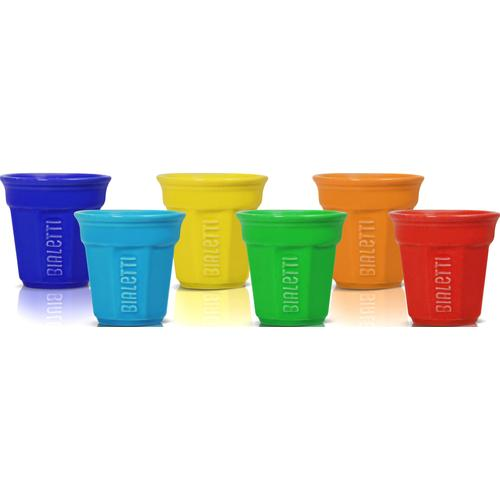 BIALETTI Espressotasse, (Set, 6 tlg.), 90 ml, 6-teilig bunt Becher Tassen Geschirr, Porzellan Tischaccessoires Haushaltswaren Espressotasse