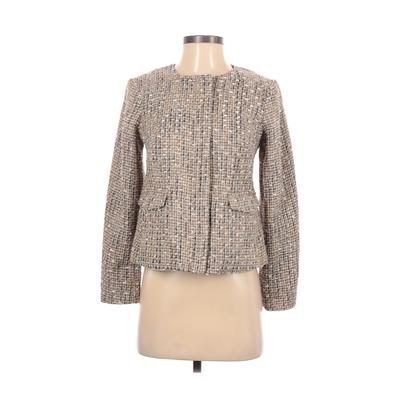 Talbots Blazer Jacket: Tan Jackets & Outerwear - Size 2 Petite