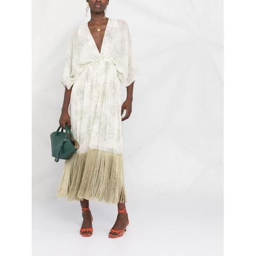 Pinko Kleid mit ausgefranstem Saum