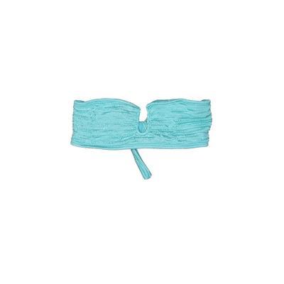 Tavik Swimwear Swimsuit Top Blue Solid Swimwear - Used - Size Large