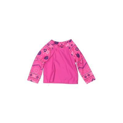 Circo Rash Guard: Pink Solid Spo...