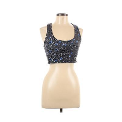 Betsey Johnson Performance Sports Bra: Gray Activewear - Size Medium