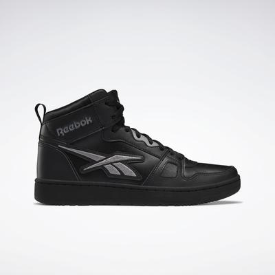 Reebok Unisex Resonator Mid Basketball Shoes in Core Black/Core Black/Pure Grey 5 Size M 7 / W 8.5 - Basketball Shoes