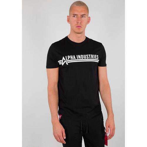 Alpha Industries Rundhalsshirt ALPHA INDUSTRIES T schwarz Herren Shirts
