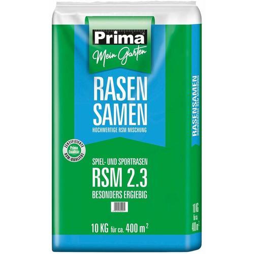PRIMA Qualitäts Sport- und Spielrasen Rasensaat RSM 2.3, 10 kg für ca. 400 m²