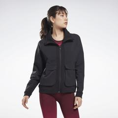 Reebok Women's United By Fitness Jacket in Black Size L - Training Clothing