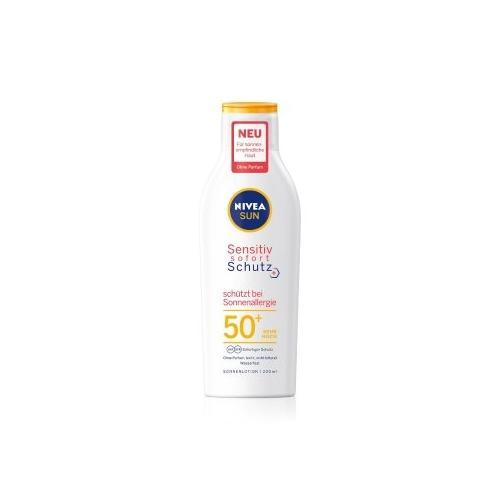NIVEA SUN Sensitiv sofort Schutz LSF 50+ Sonnenallergie Sonnenlotion 200 ml